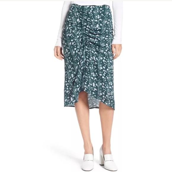 7d9649a2e1e Lewit Clara Floral Green Ponderosa Print Skirt
